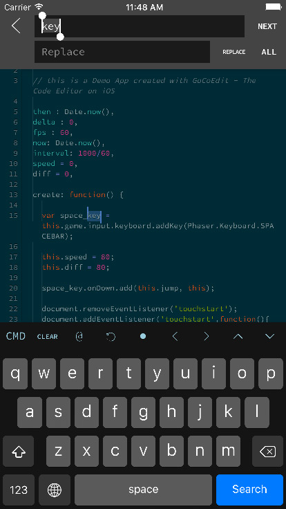 GoCoEdit - Code and Text Editor for iOS
